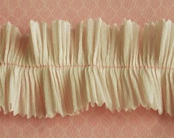 Crepe Paper Ruffle Handmade Valentine Trim - 2 Inch Wedding Ruffle Backdrop Streamer - Ruffled Valentine Candy Box Paper Trim - Easter Trim