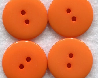 Tangerine Orange Buttons Orangee Acrylic Buttons 22mm (7/8 inch) Set of 8 /BT155