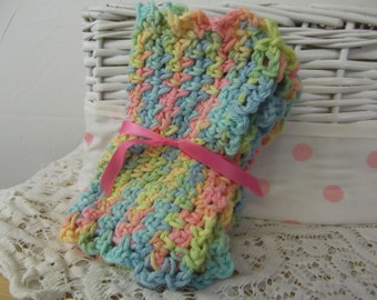 Beauty,Home,Living,Bath Acdessory,Kitchen,Crochet Cloths ,Cleaning Supplies,Face Cloth,Cotton,Blue,Pink,Yellow,wash cloth