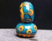 MruMru handmade lampwork beads, earring pair set. Sra