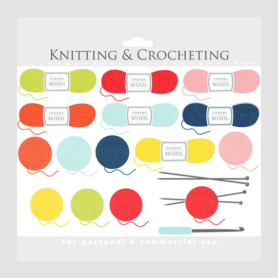 Knitting Crocheting Clipart : Knitting and crochet clipart images
