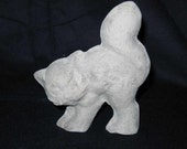 Unfinished paper mache Cat w/Arched Back