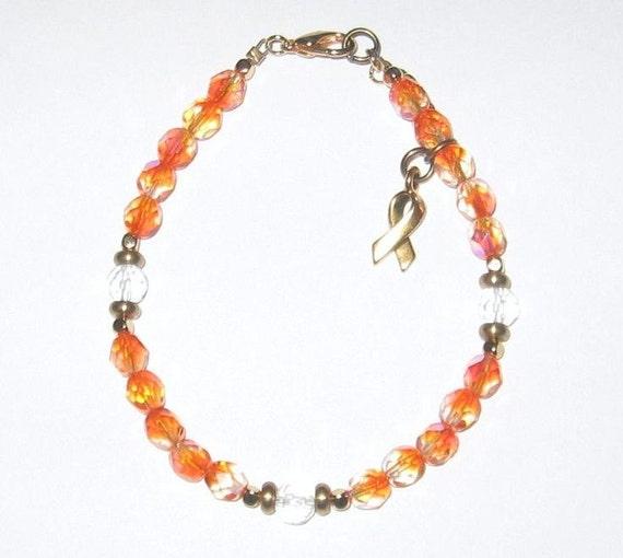 kidney cancer leukemia and lupus awareness bracelet
