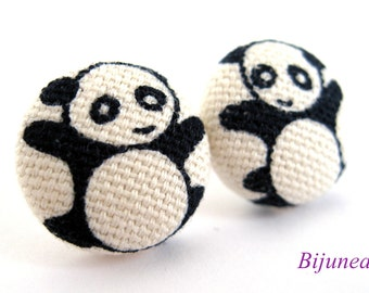 Panda earrings - Panda stud earrings - Panda studs - Panda post earrings - Panda posts sf980