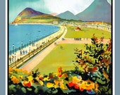 Vintage Travel Poster for Bray Ireland Refrigerator Magnet