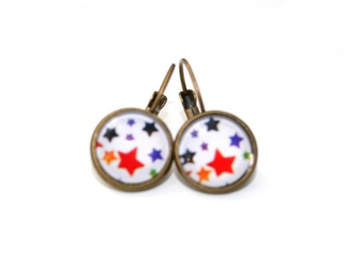 Star Earrings, Stars Illustration Dangle Earrings