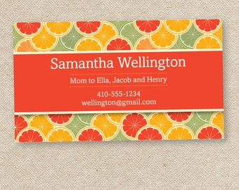 50 Stylish Mommy Calling Cards (Oranges)