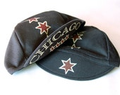 Chicago Four Star Cycling Cap in Charcoal Gray or Black by Kozie Prery