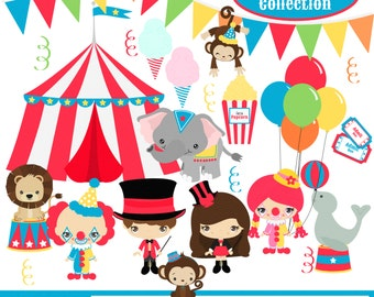 Circus Digital Clipart, clip art collection