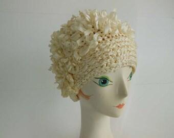 60s hat /The Frivolous Flapper  Vintage 1960's does 20's Ribbon Hat