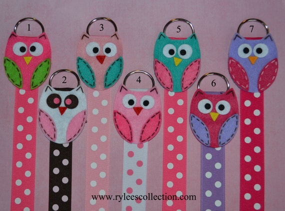 Owl Hair Bow Holder with Polka Dots - NEW COLORS - Pick Your Favorite