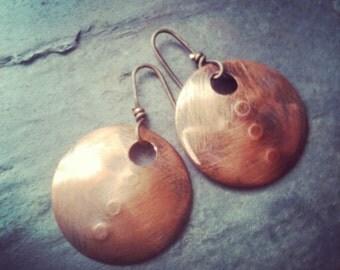 Copper earrings, Tribal