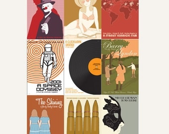 Movie posters Kubrick Collection set of nine prints in various sizes: save 10%