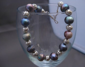 Delicious Iridescent Freshwater Pearl Bracelet
