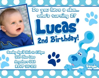 Blues Clues Birthday Invitations