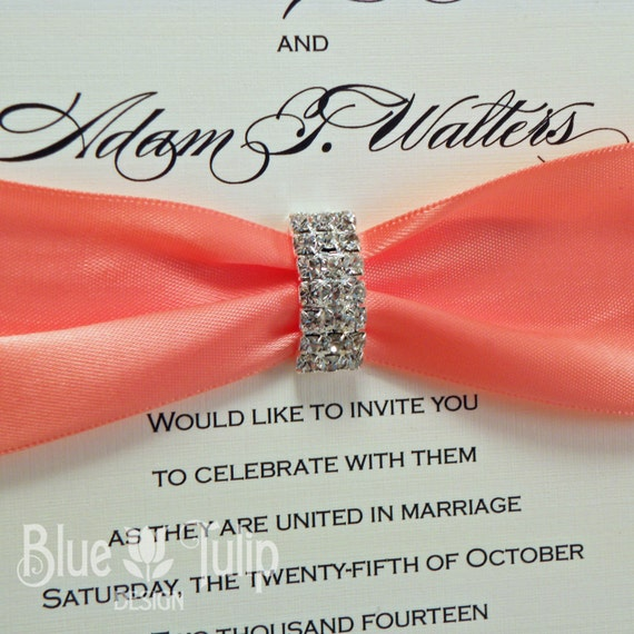 Coral Wedding Invitation was great invitations example