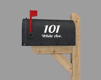 "House number Address Mailbox 6"" x 8"" you choose the COLOR, FONT"