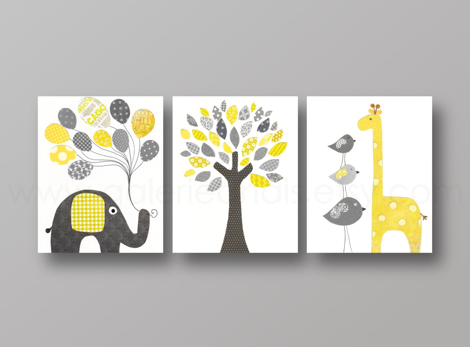 Nursery art print nursery wall decor baby nursery by for Baby wall decoration ideas
