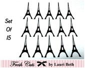 Eiffel Tower Die Cuts set of 15