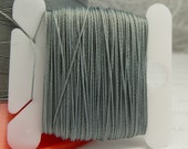 Gray Grey Silk Like Beaders Secret Knotting Thread Beading Stringing Sewing 20 yards Polyester