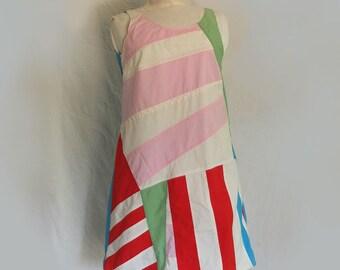 Bauhaus inspired - Hip Sunny Day Dress - Cotton -  A line - Designer Slip  Dress -  made by kathrin kneidl for resplendent rags