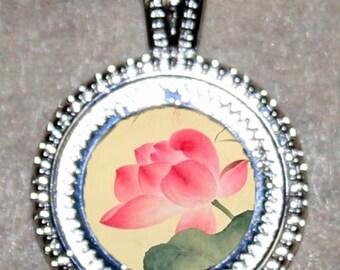 Pink Lotus Flower Pendant