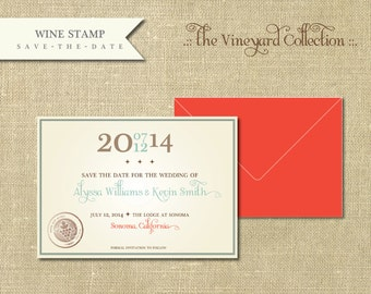 The Vineyard Collection-Wine Stamp Save the Date