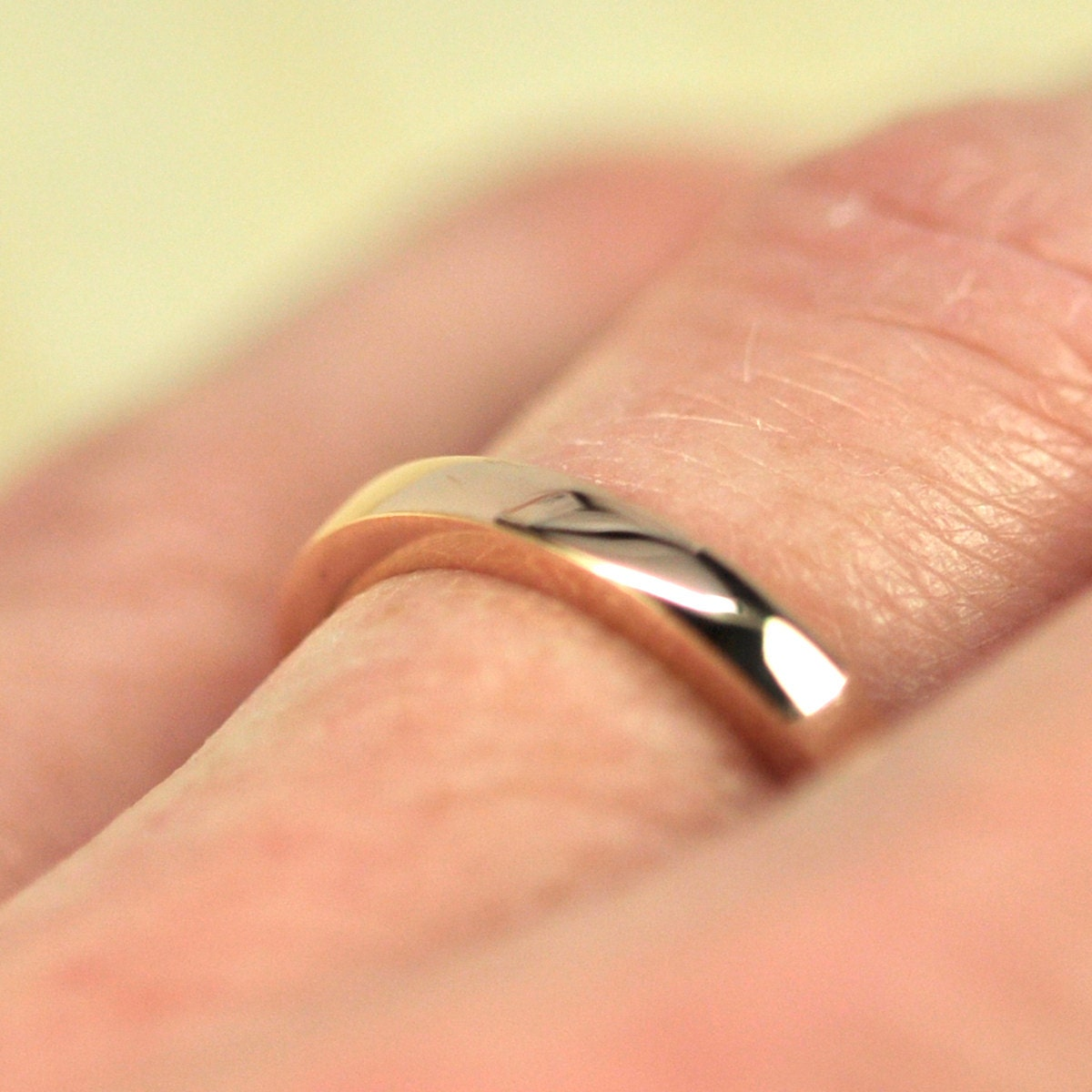tall wedding band 14k rose gold 25mm 2mm wedding band zoom