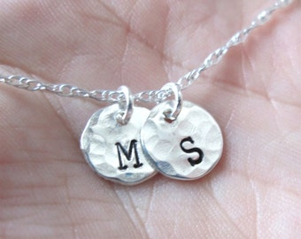 Custom Initial Jewelry - Personalized Necklace - Sterling Initial Necklace - Tiny Letters - Mommy necklace - Letter Necklace - Dainty