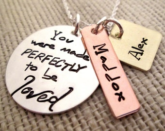 Mothers Necklace - You Were Made Perfectly Necklace - Adoption Necklace - Mommy Jewelry - personalized jewelry