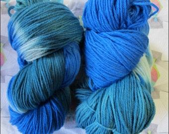 Hand Dyed Merino Wool: Worsted weight