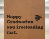 Graduation card - happy graduation - new grad - high school - college - graduation present