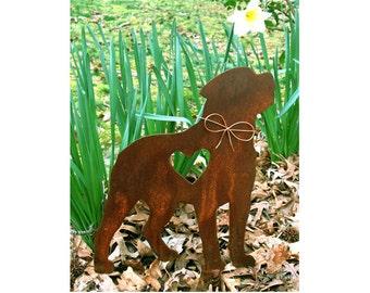 Rottweiler Dog Metal Garden Stake - Metal Yard Art - Metal Garden Art - Pet Memorial