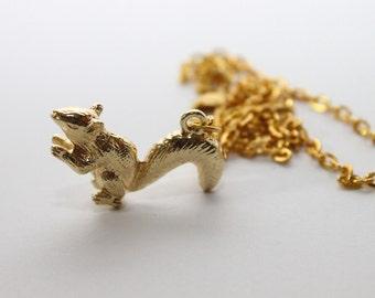 SALE-Squirrel Necklace