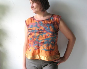Nuno Felted Pure Silk Blouse / Top