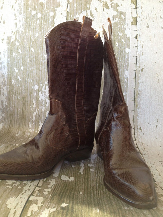 vintage joan and david cowboy boots 38 1 2 8 1 2 by