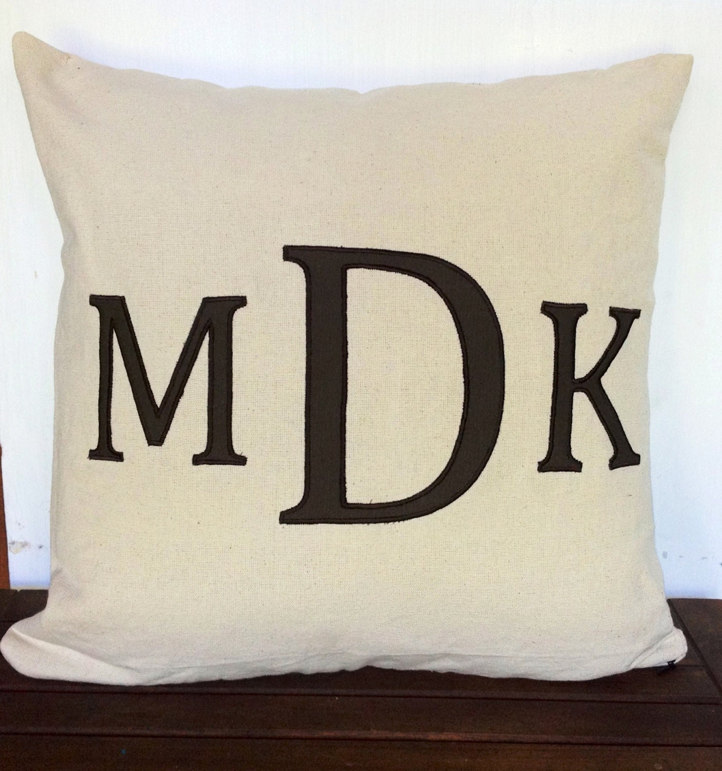 Decorative Pillows With Monogram : Couples Pillow Cover Monogram Decorative Throw Pillow Covers