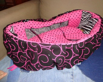 Shopping Cart Cover Black and Hot Pink