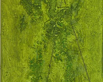 Fissure. green - abstract painting