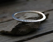 Signature Bangle hand forged bangle bracelet sterling silver