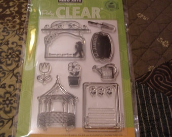 Le Jardin Hero Arts Clear Unmounted Stamps - 8 pieces