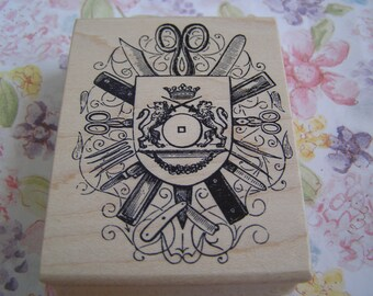 Coat of Arms wood mounted Rubber Stamp