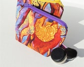 Purple and Oranges Small Zippered Pouch