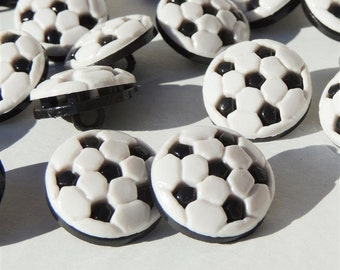 Large Soccer Ball Buttons by Buttons Galore