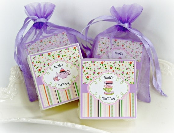 tea party favors birthday party favors baby shower favors girl