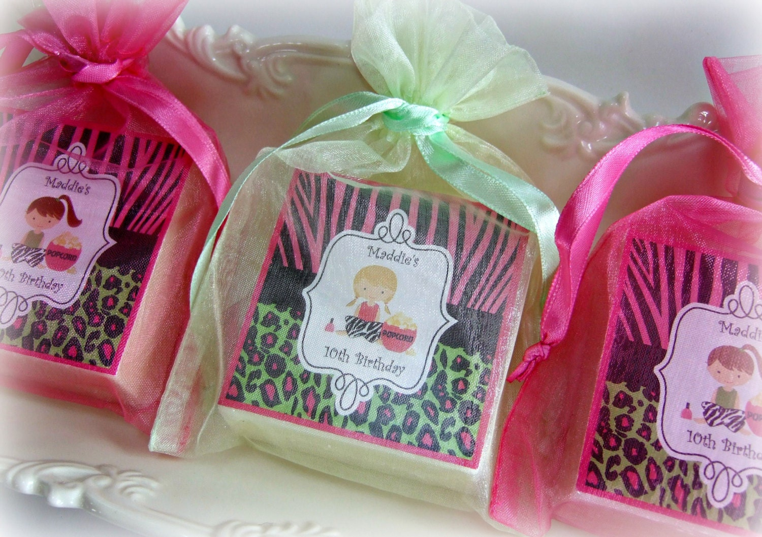Spa Party Favor Birthday Party Favor Girl Party Favor Zebra