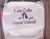 Messenger Bag  Keep Calm Custom Custom Embroidery
