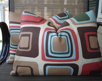 Lumbar Pillow Covers One Pair 12 x 16 Handmade Cubed Pattern Pillows Home Decor Decorative Throw Pillows Kidney Pillows Colorful Pillows