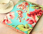 "15"" Laptop Sleeve, MacBook Case, 15"" MacBook Air Case, Turquoise Flower 15  Macbook Pro Case, FIT ANY BRAND Computer Case - Hawaiian Flowers"