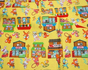 Japanese fabric Animal stores print  C1A10